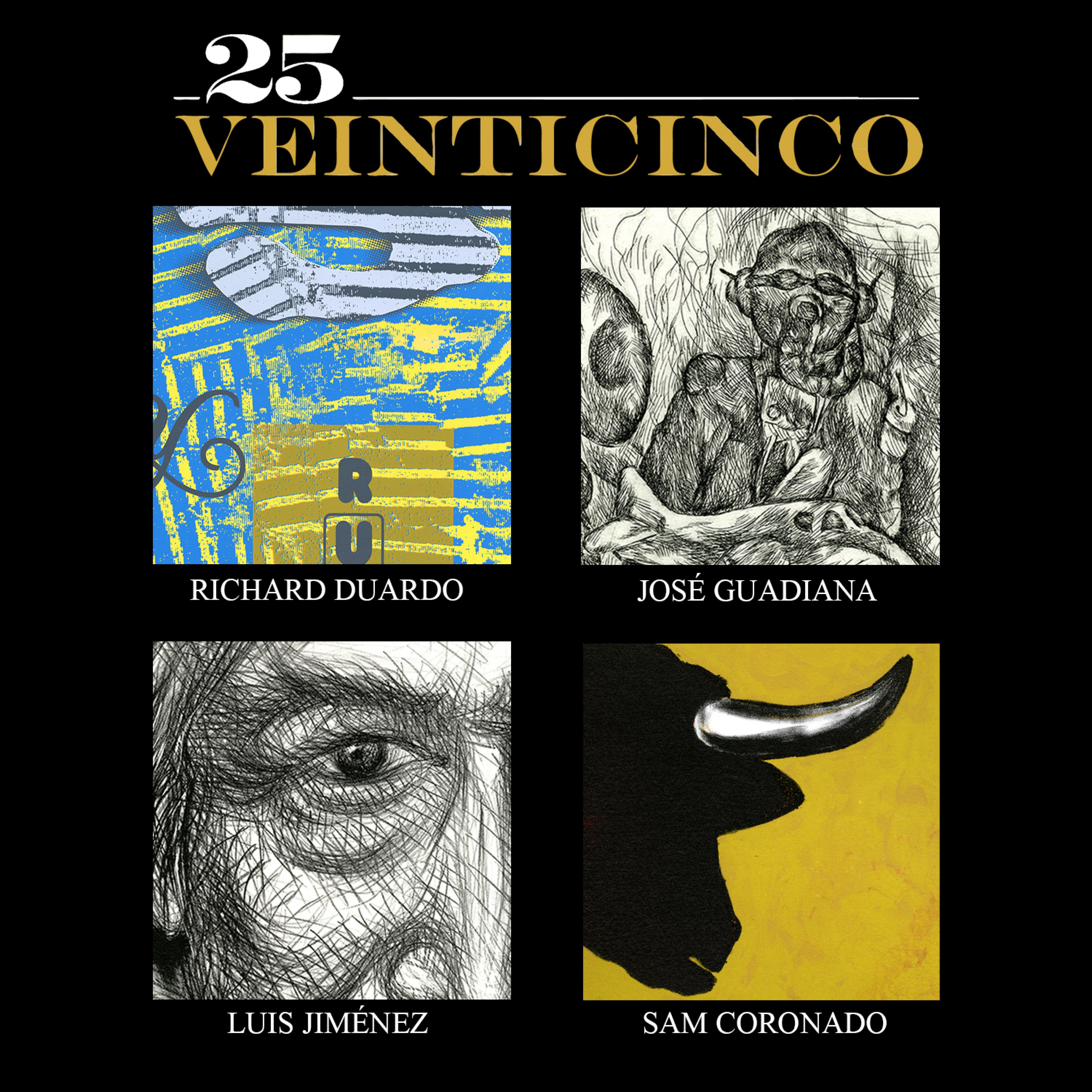 publicity image for 25 Veinticinco: Mexican-American Prints from University of Texas at San Antonio