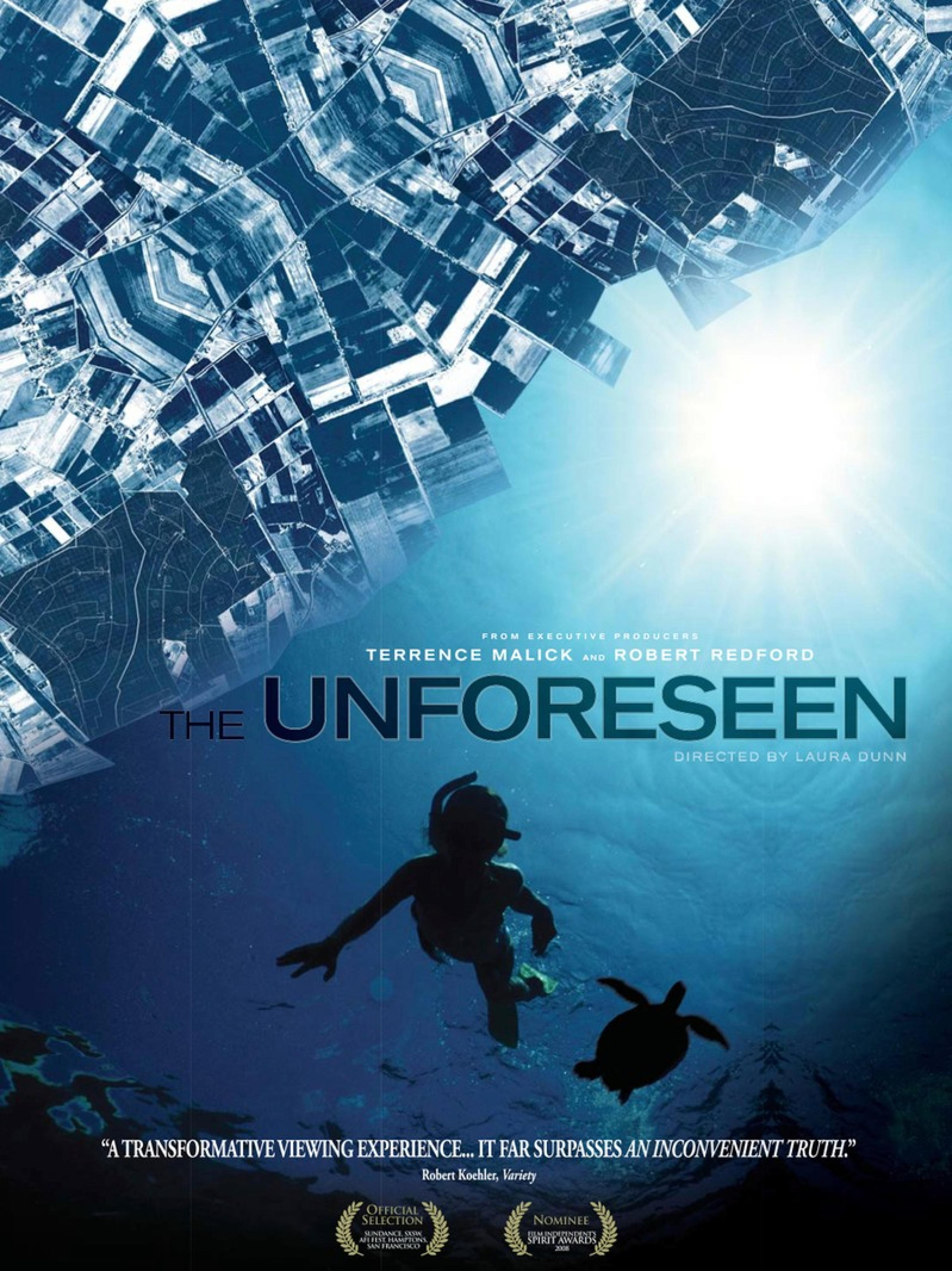 publicity image for First Friday Films: The Unforeseen