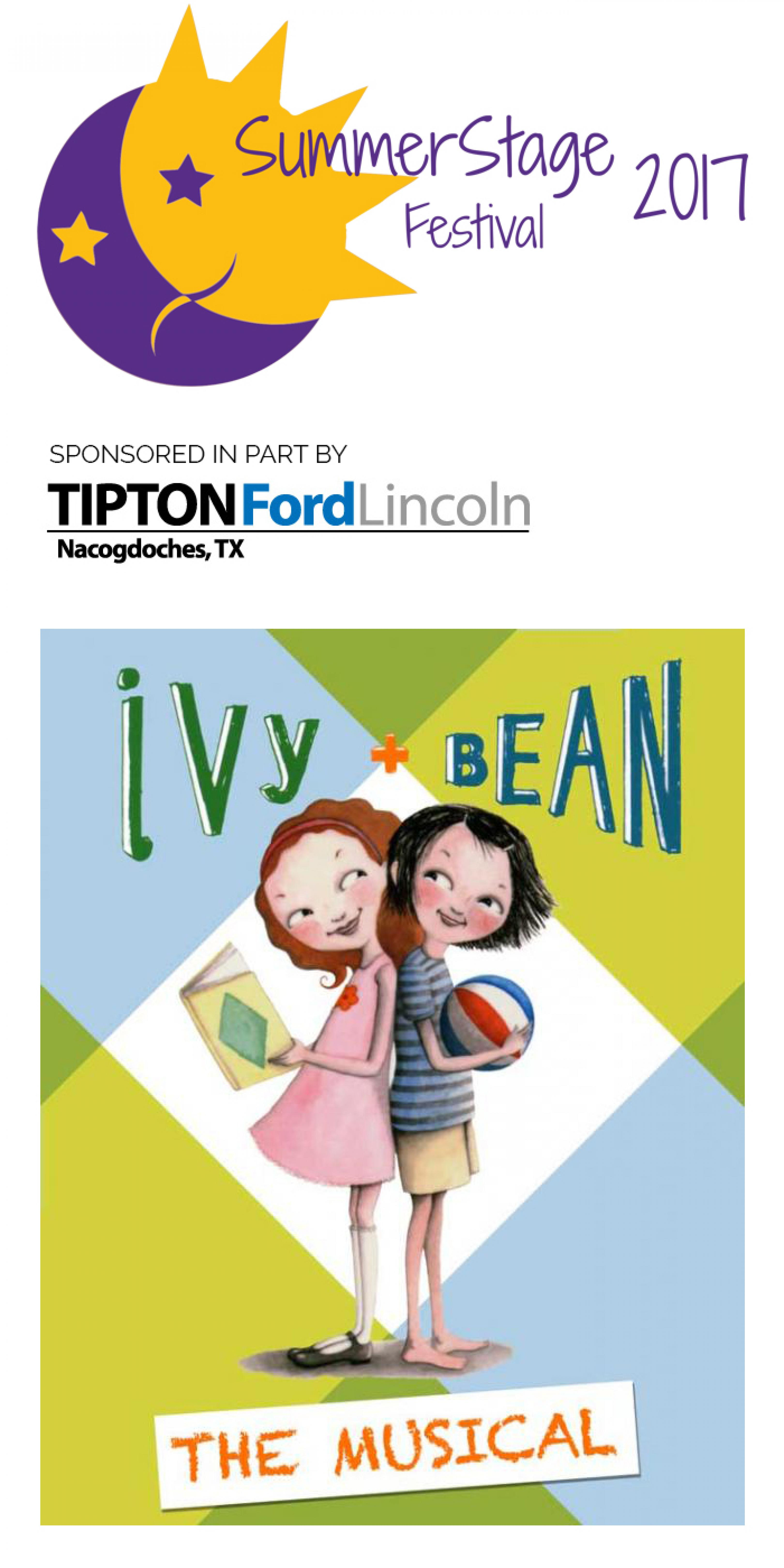 publicity image for Ivy + Bean the Musical