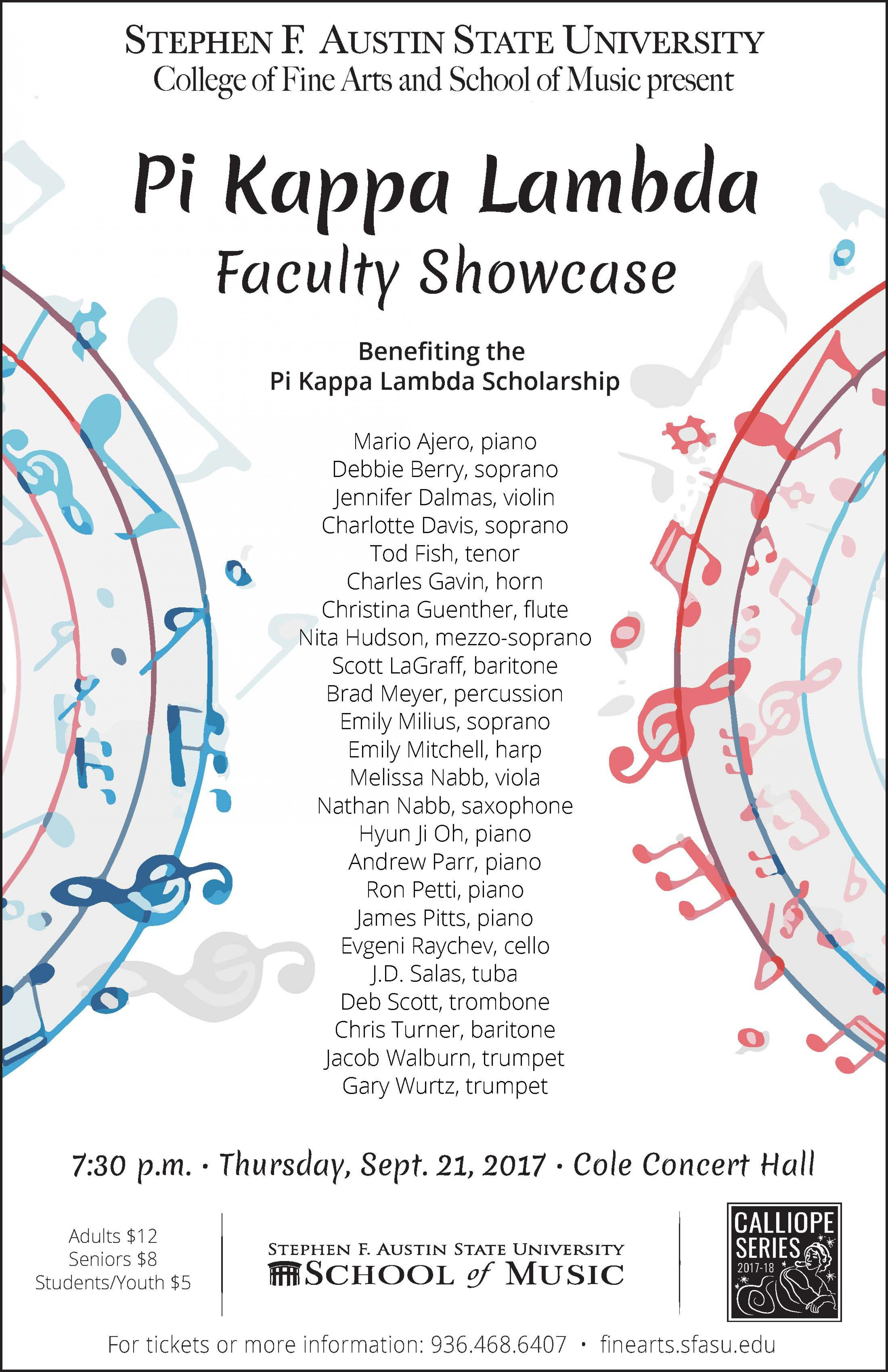 publicity image for Pi Kappa Lambda Faculty Showcase