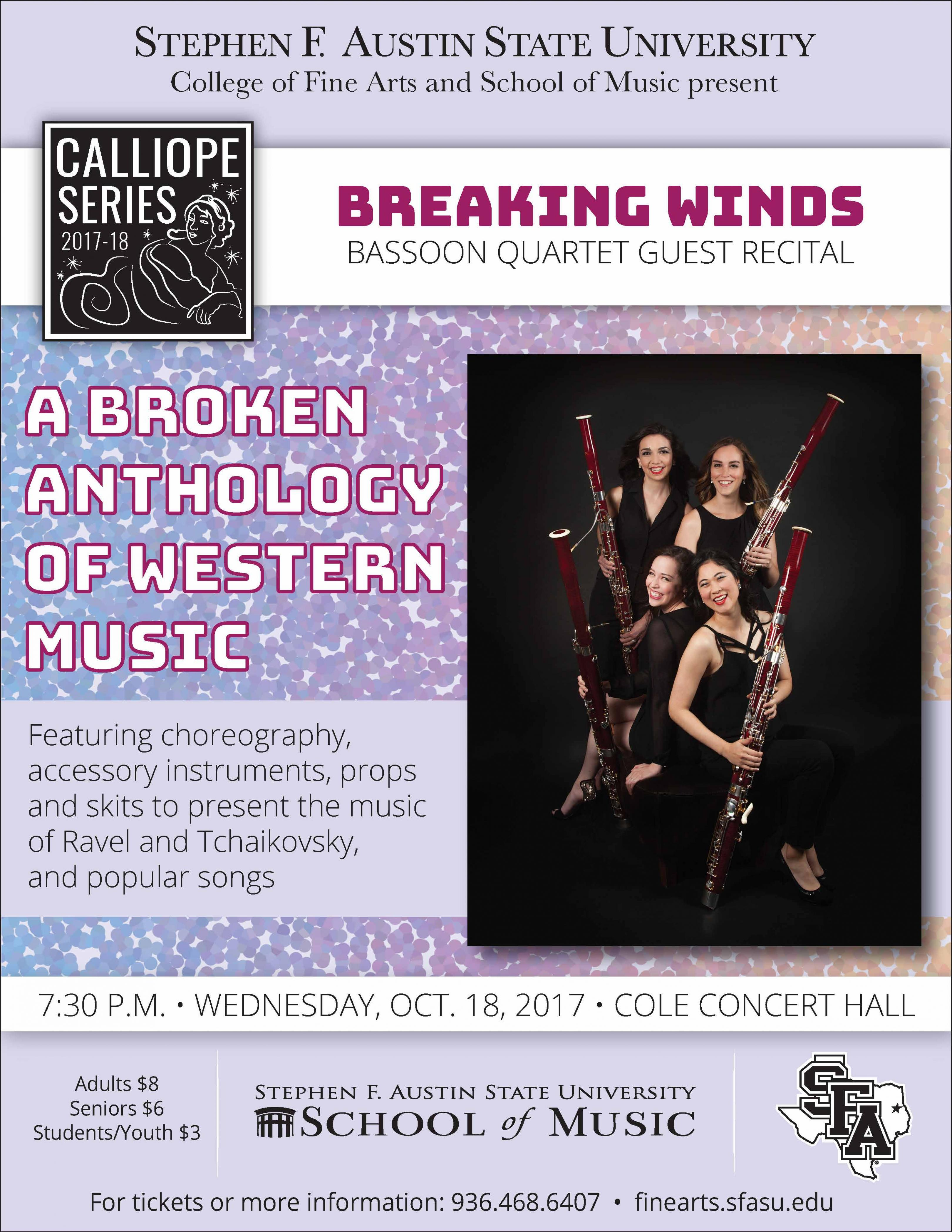 publicity image for Breaking Winds Bassoon Quartet
