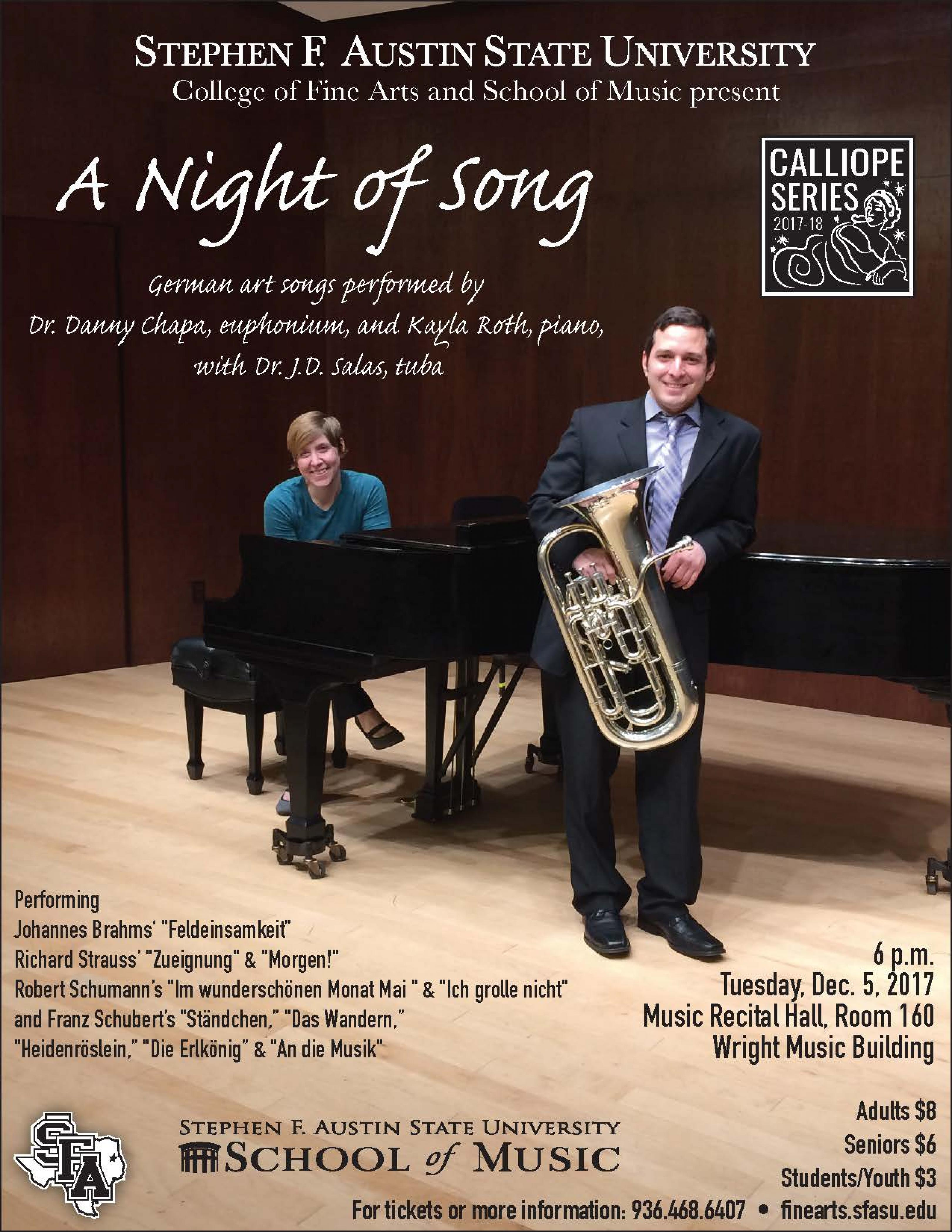 publicity image for A Night of Song