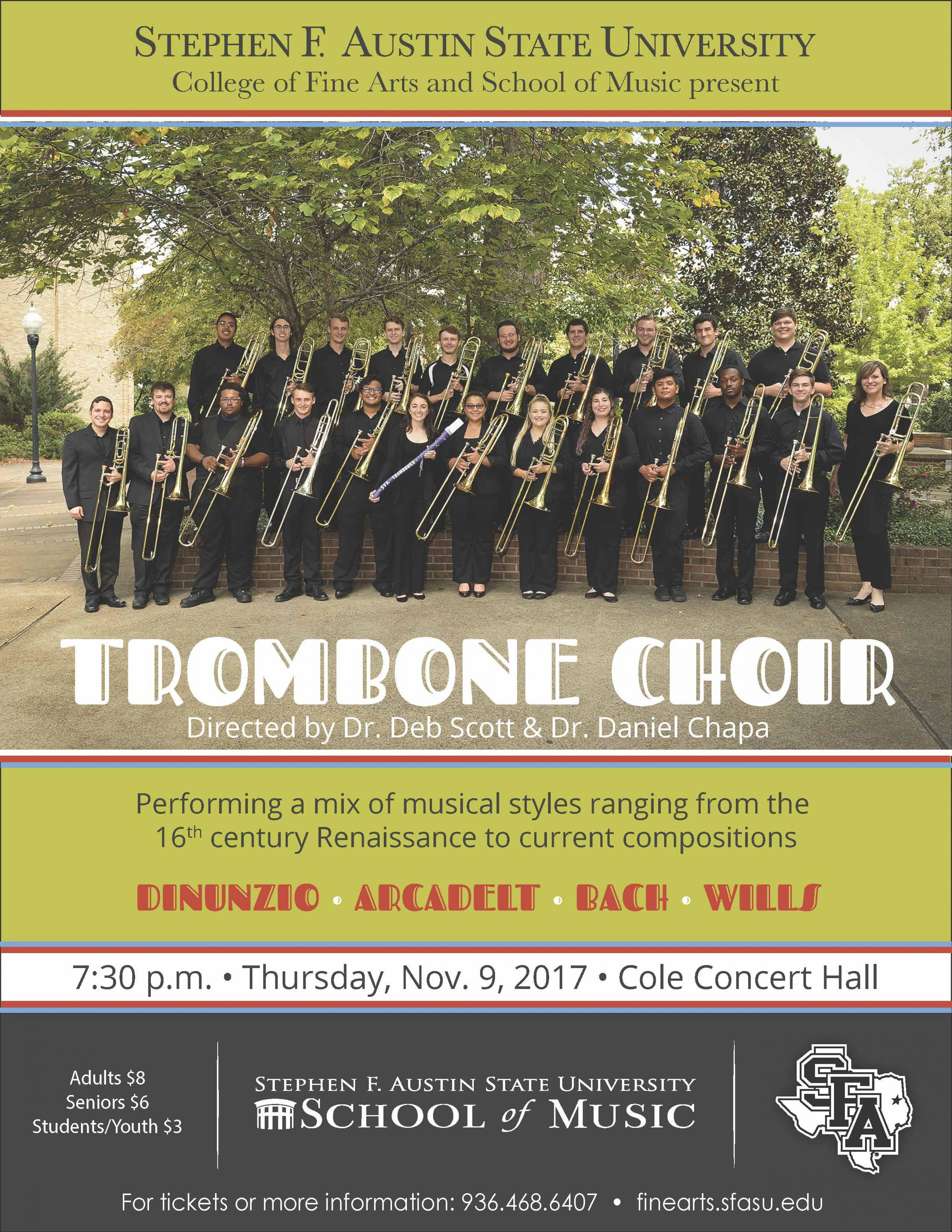 publicity image for Trombone Choir