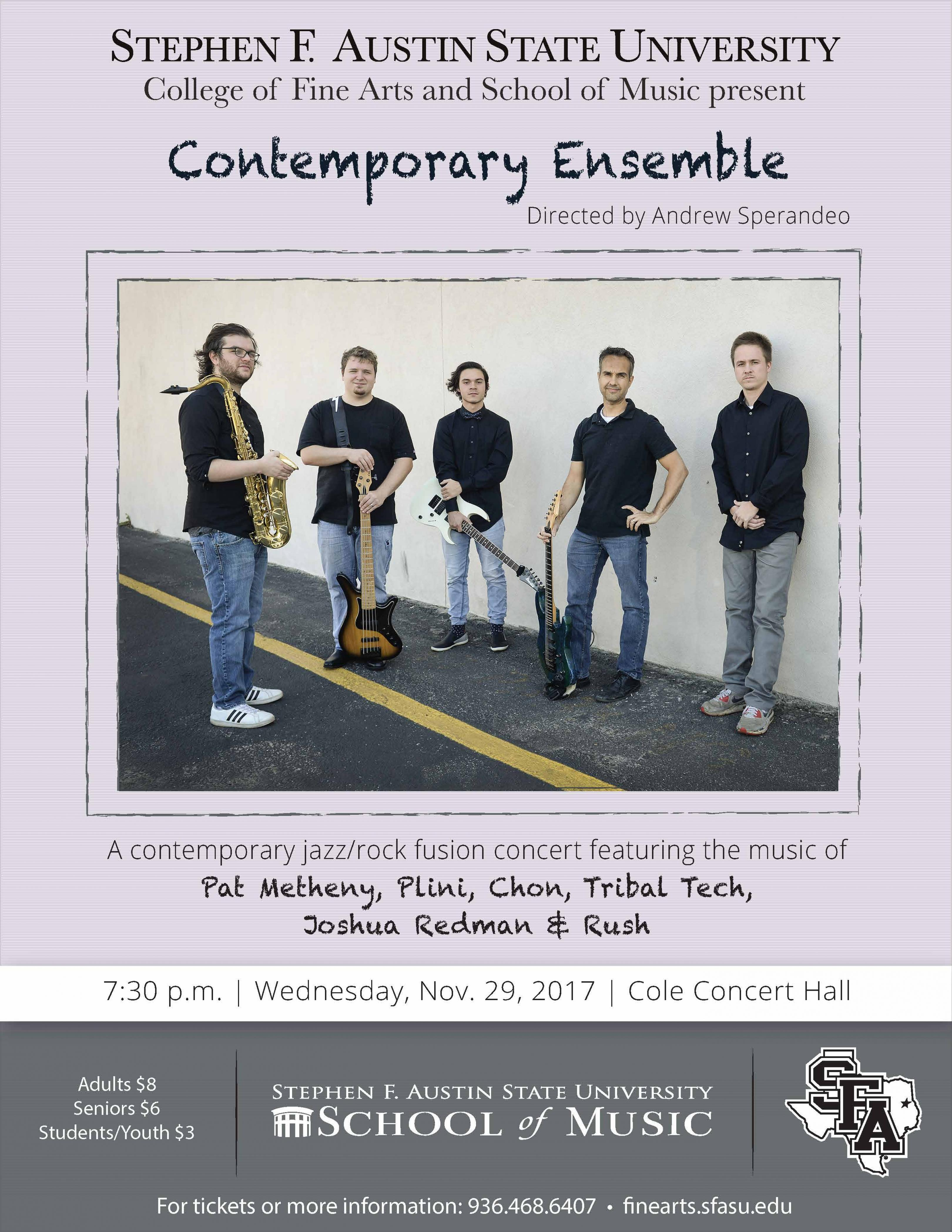 publicity image for Contemporary Ensemble