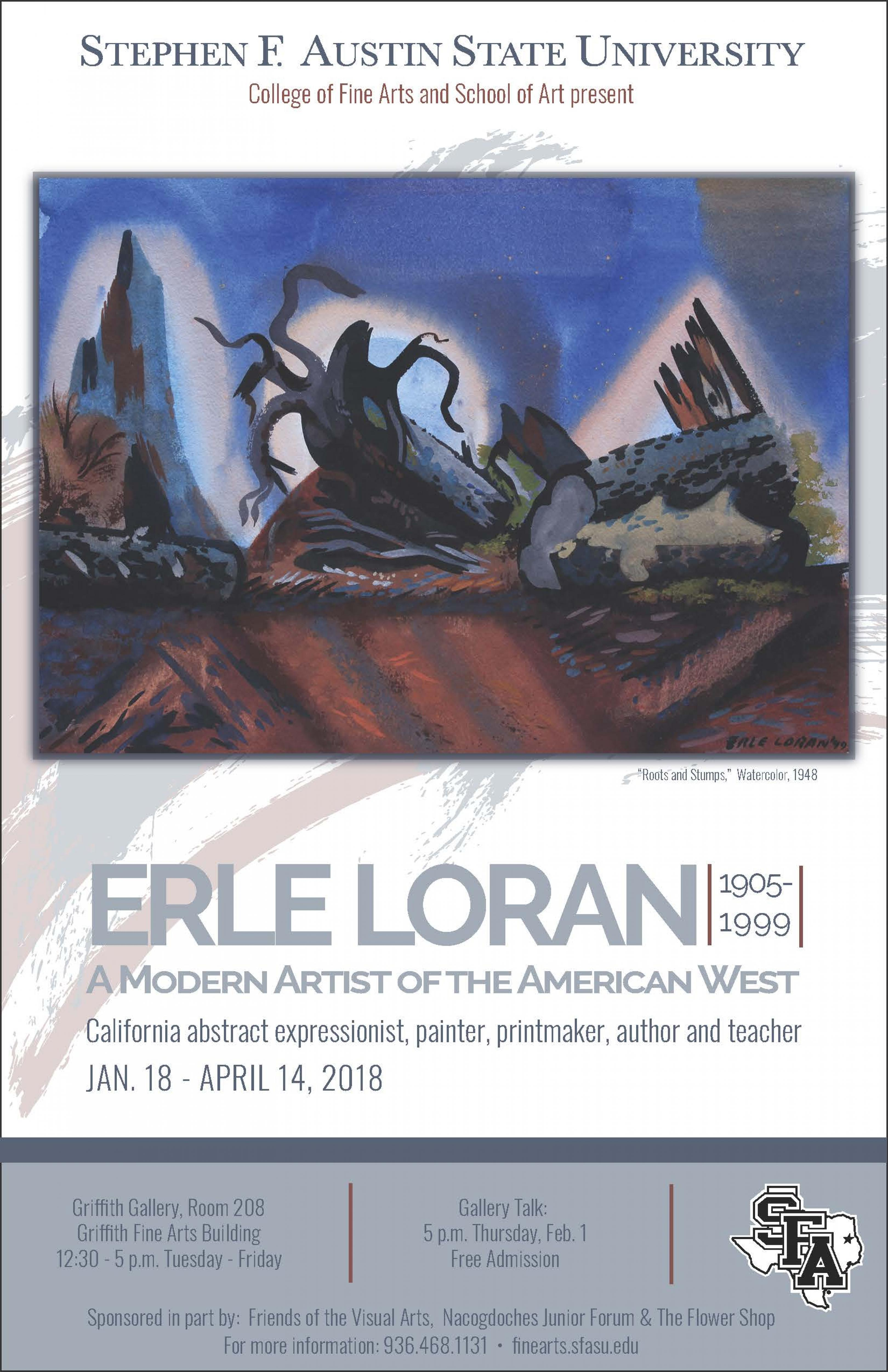 publicity image for Erle Loran