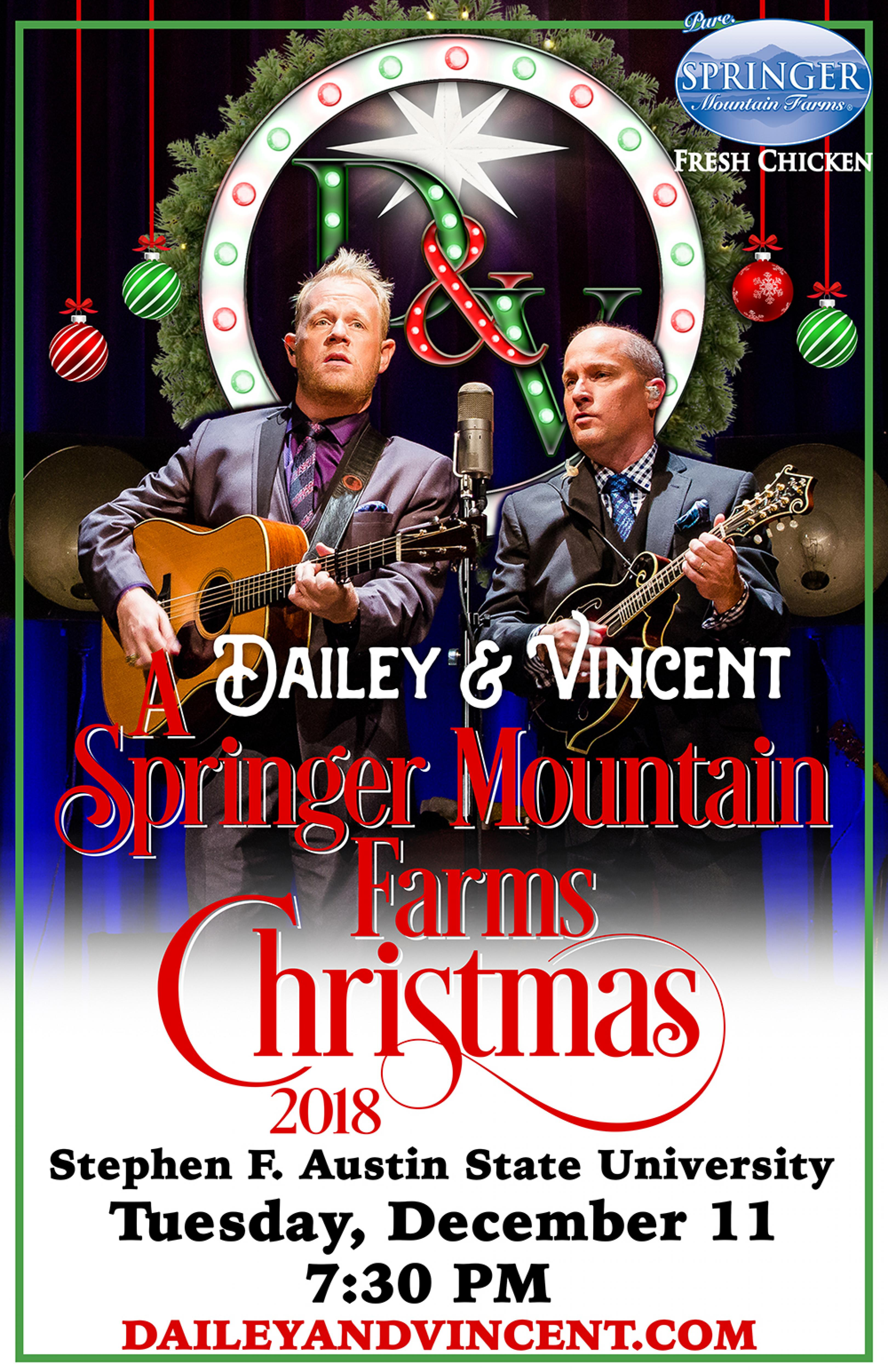 publicity image for Dailey & Vincent: A Springer Mountain Farms Christmas