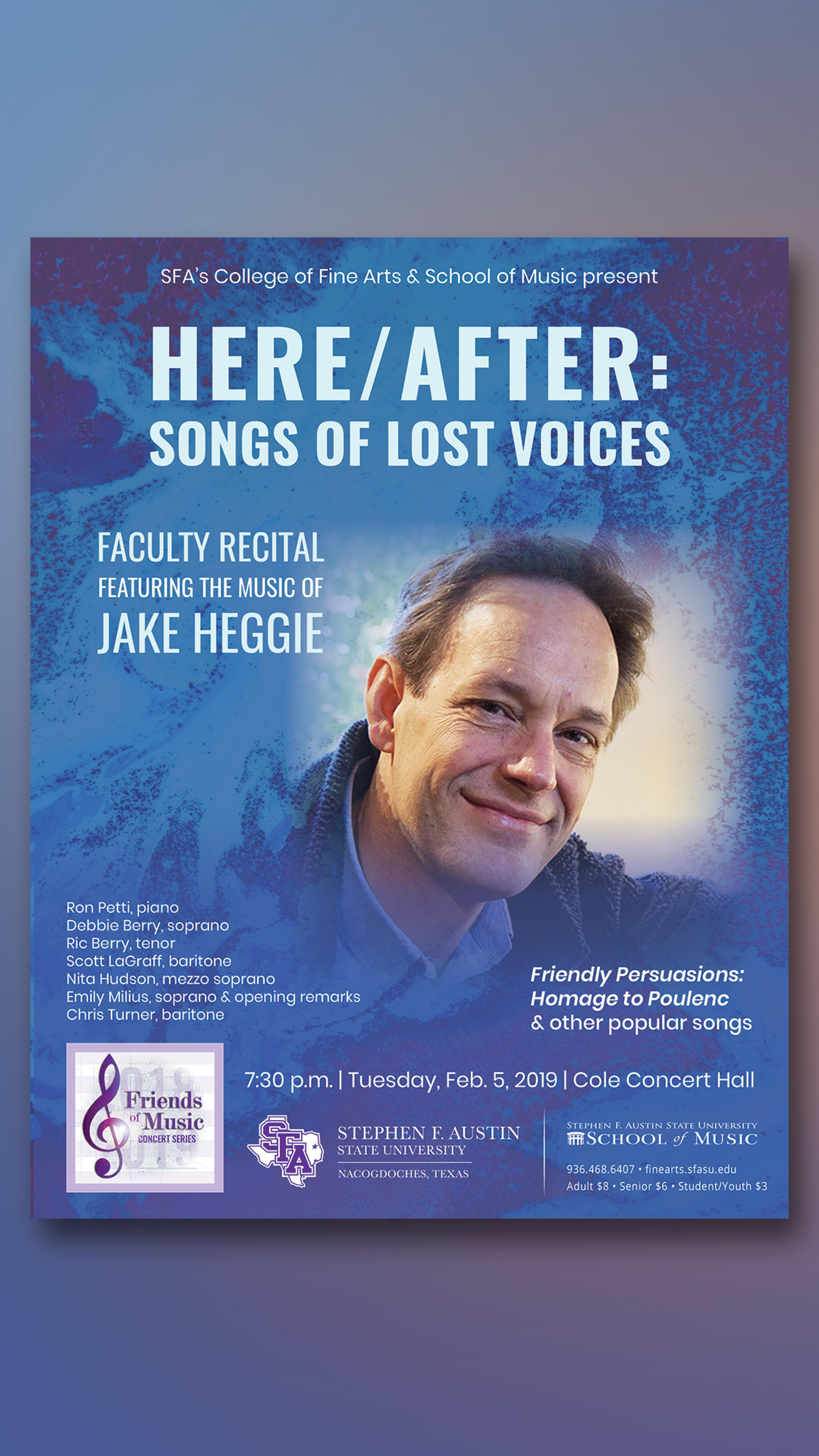 publicity image for Jake Heggie – Here/After: The Songs of Lost Voices