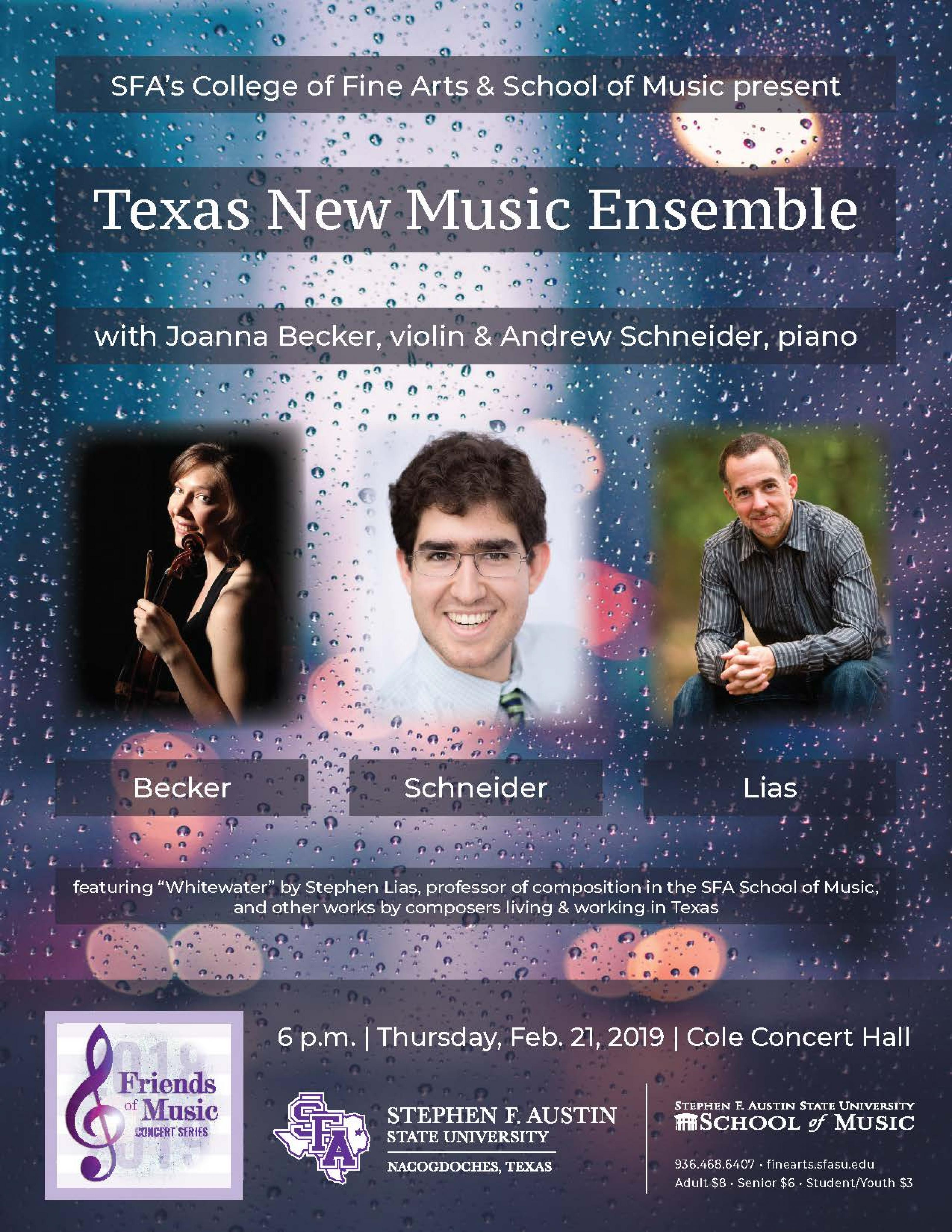 publicity image for Texas New Music Ensemble