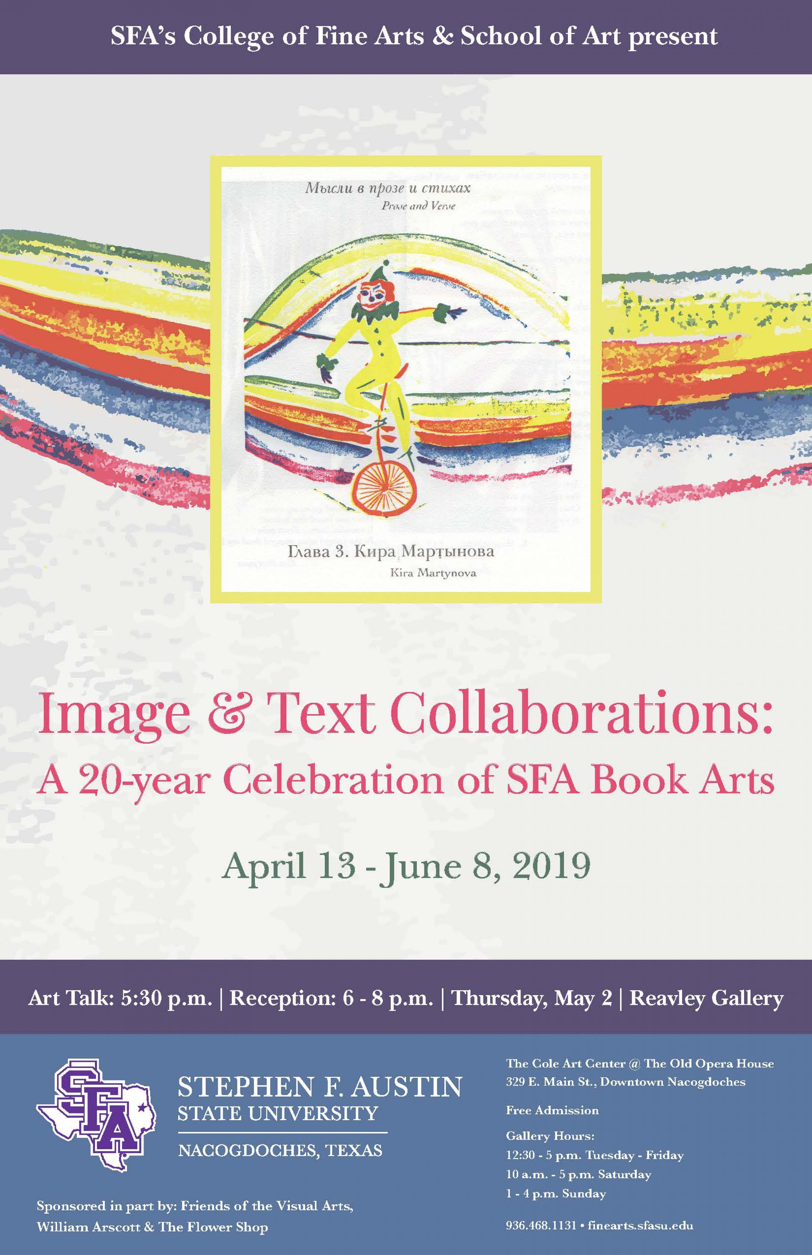 publicity image for Image & Text Collaborations: A 20-year Celebration of SFA Book Arts