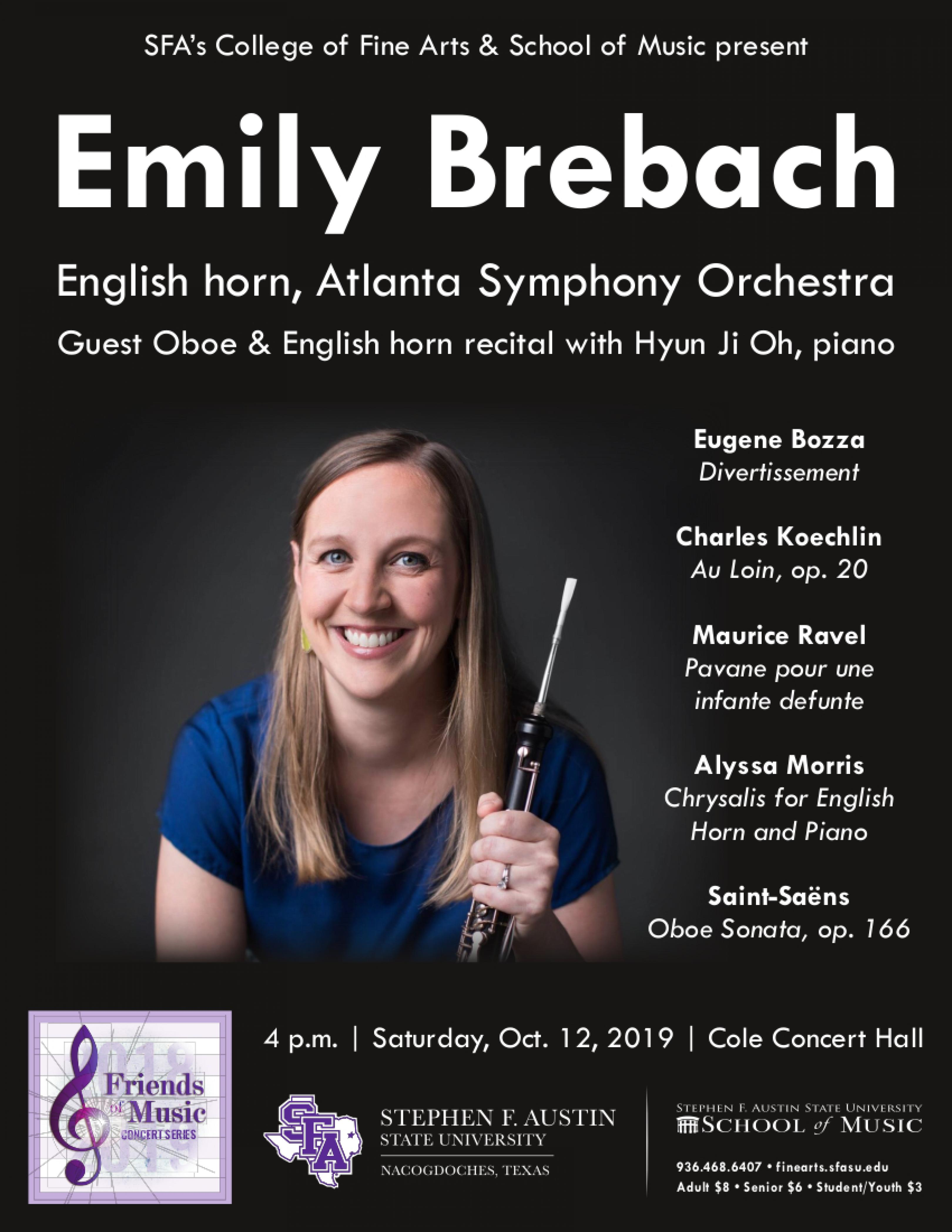 publicity image for Emily Brebach - Guest Oboe