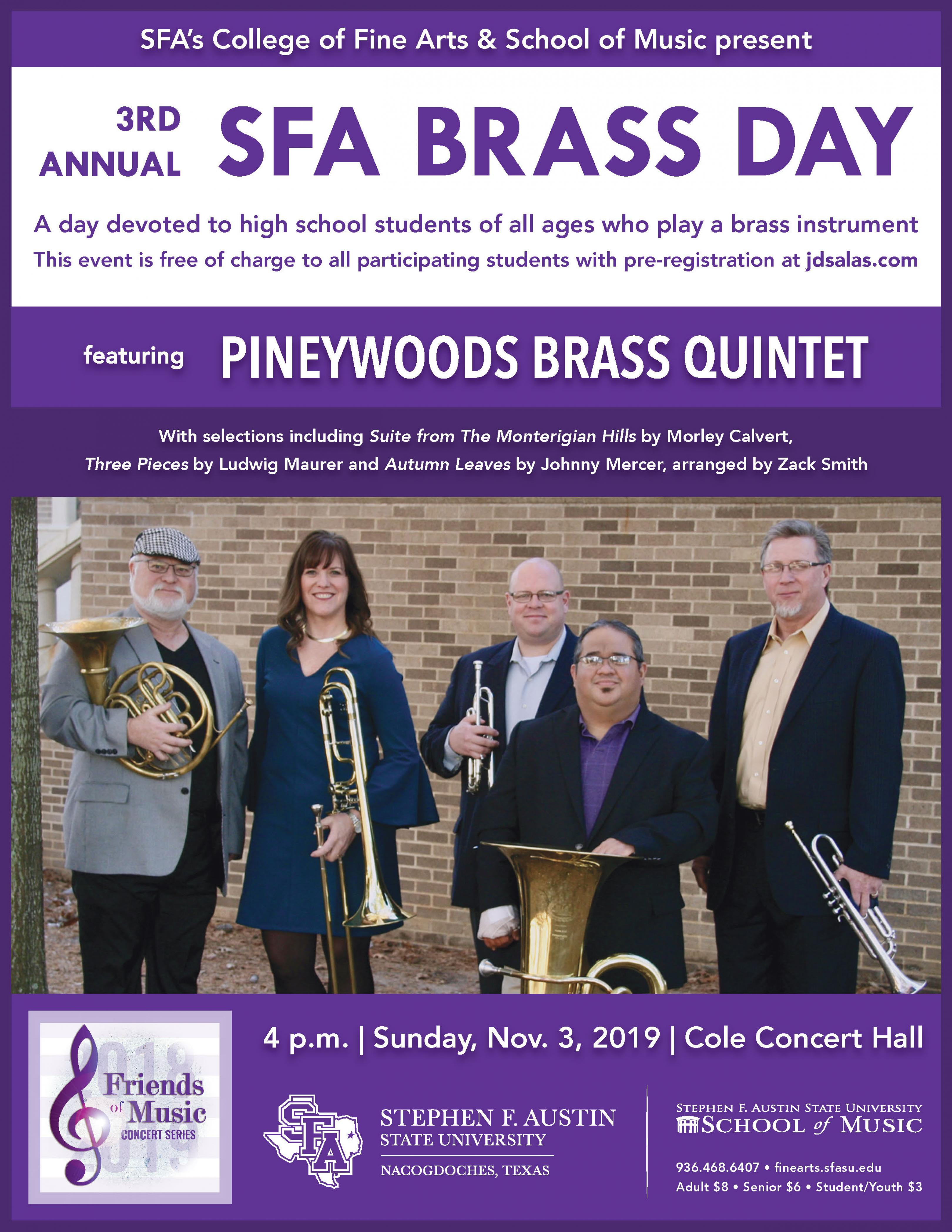 publicity image for Brass Day - Faculty Brass Quintet