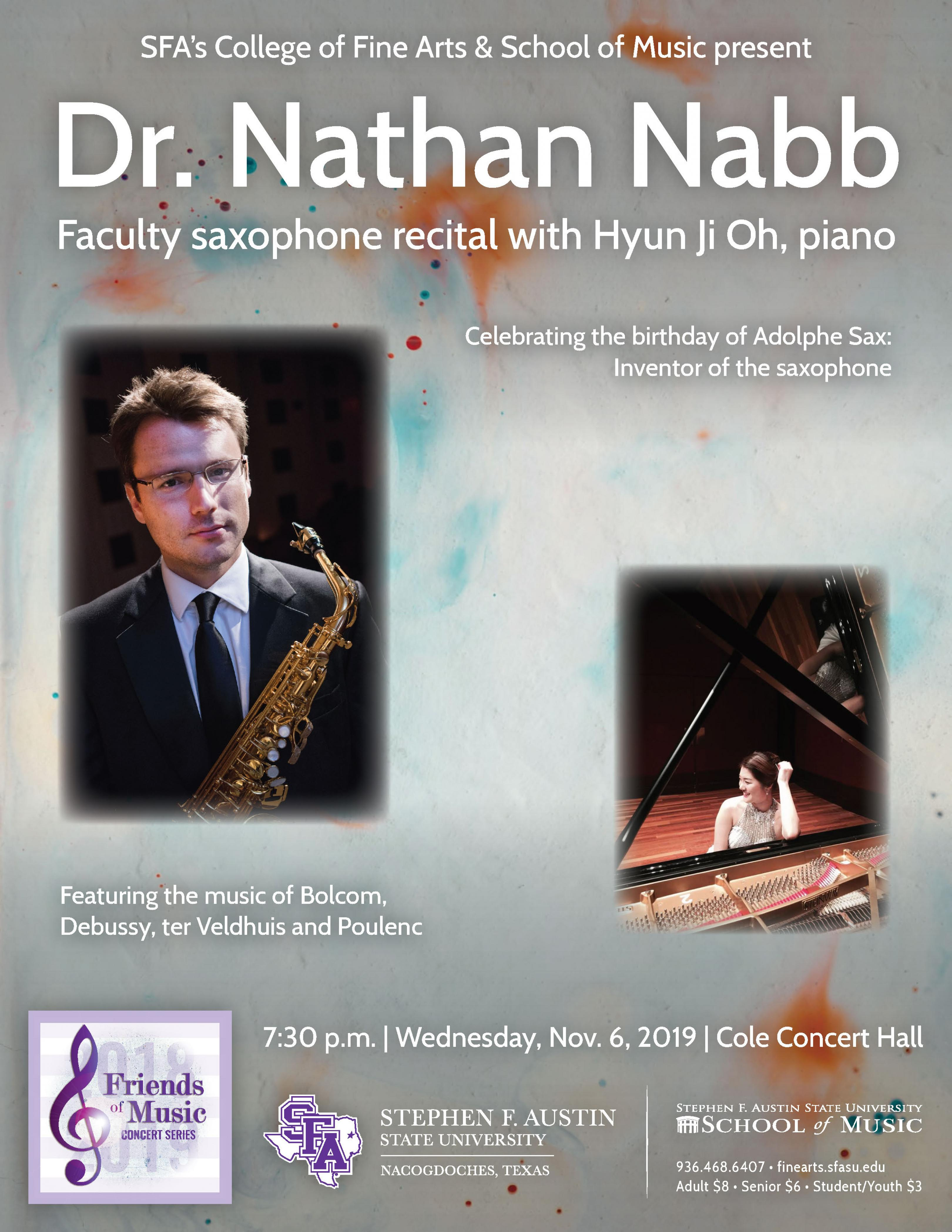 publicity image for Nathan Nabb - Faculty Saxophone Recital