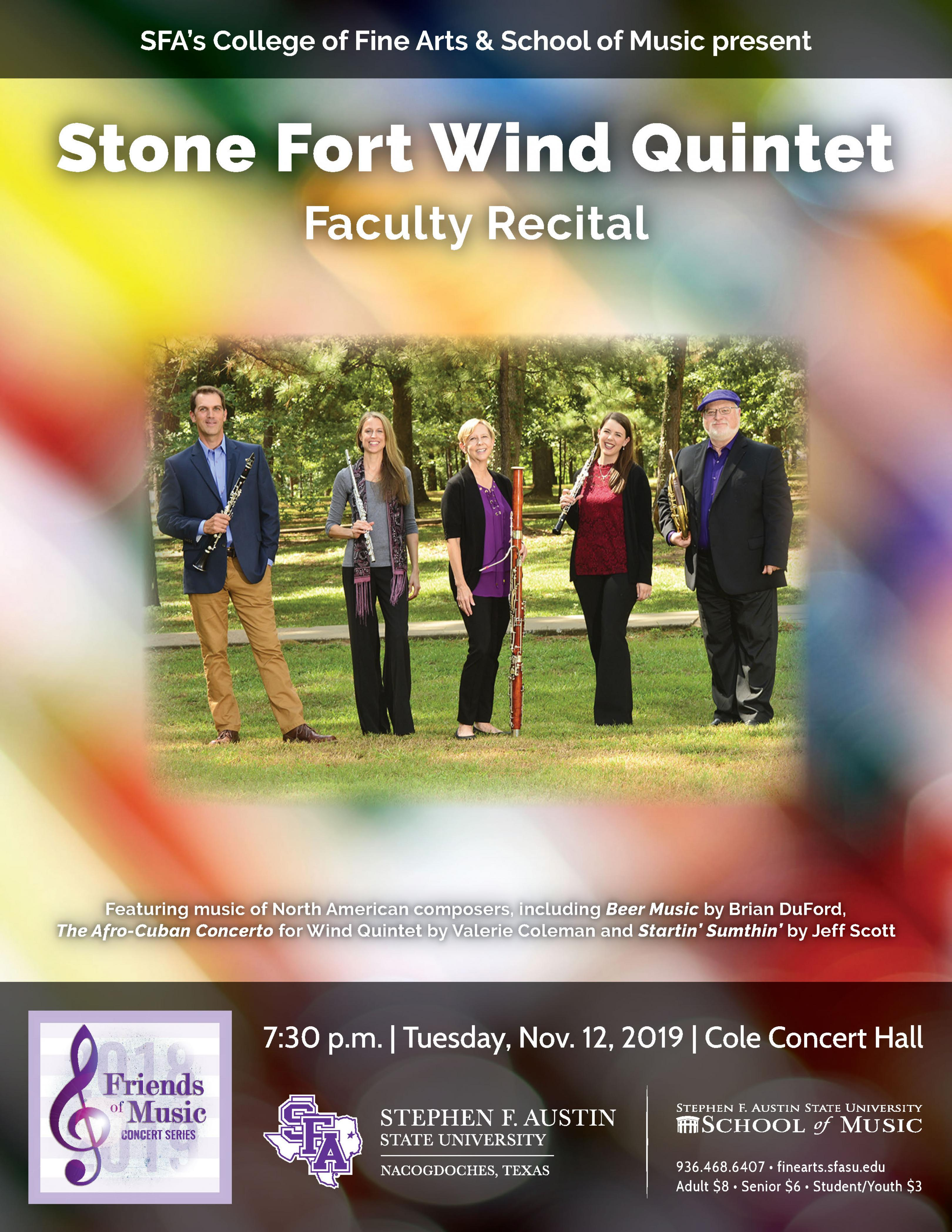 publicity image for Stone Fort Wind Quintet